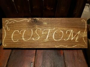 Details About Custom Personalized Handmade Wood Sign Name Or Number Plaque Ect