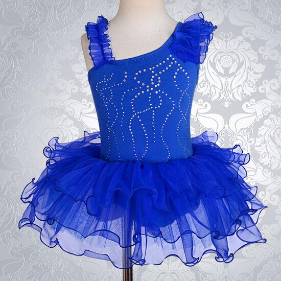 c81592c7e Diamante Royal Blue Girl Ballet Tutu Dance Costume Fancy Dress Size ...