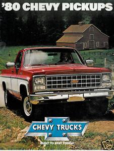 1980-Chevrolet-Pickup-Truck-USA-Original-Sales-Brochure-Silverado-C-K-Chevy