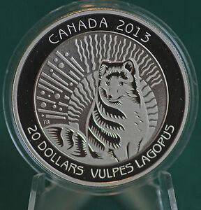 2013-Canada-20-Untamed-Canada-Arctic-Fox-Coin-99-99-silver-Proof-finish