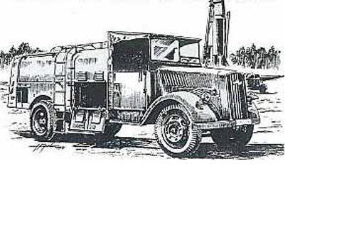 CAMION-CITERNE Kfz 385 FLUGBETRIEFSSTOFF - Kit résine PLANET MODELS 1 72  N° 017