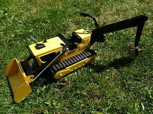 Vintage-Toy-LARGE-YELLOW-TONKA-T6-TRACKED-TRENCHER-Loader-amp-Backhoe
