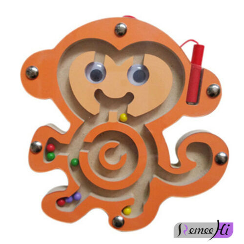 Children /'s gift Magnetic Maze Wooden Walk Bead Animal Maze Educational Toys