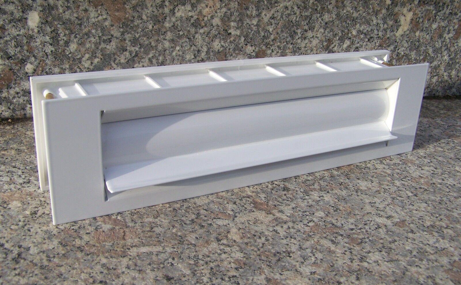 Briefschlitz gedämmt isoliert Briefklappe Briefeinwurf Postklappe weiß BEH12