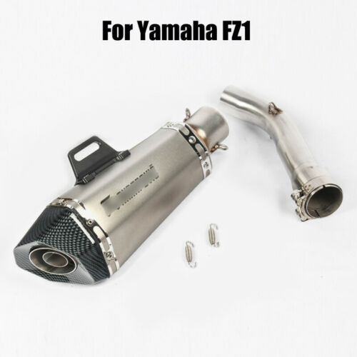 For Yamaha FZ1 Motorcycle Exhaust System Mid Link Pipe Connect 51mm Muffler Tips