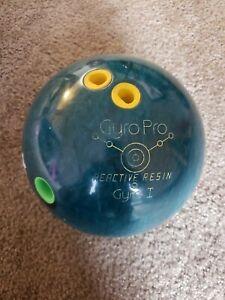 Vintage-Ebonite-Gyro-Pro-Bowling-Ball-14-8-pounds-Green-B023