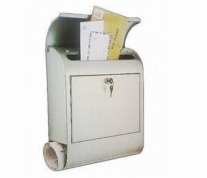 Briefkasten Wandbriefkasten mit Zeitungsfach Metall Zeitungskasten Zeitung NEU