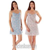 Ladies 100% Cotton Paisley Nightdress Nightie Chemise Size 8 10 12 14 16 18