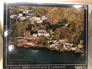 "ST JOHN/'S NEWFOUNDLAND /& LABRADOR 500 PC  PUZZLE 18/"" X 24/"" FAST FREE SHIPPING"