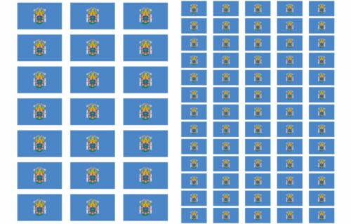 Spain Spanish Region and City Flag Stickers rectangular 21 or 65 per sheet