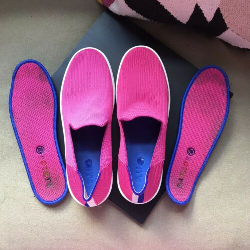 Rothys Bubblegum Pink Sneakers, Size 9