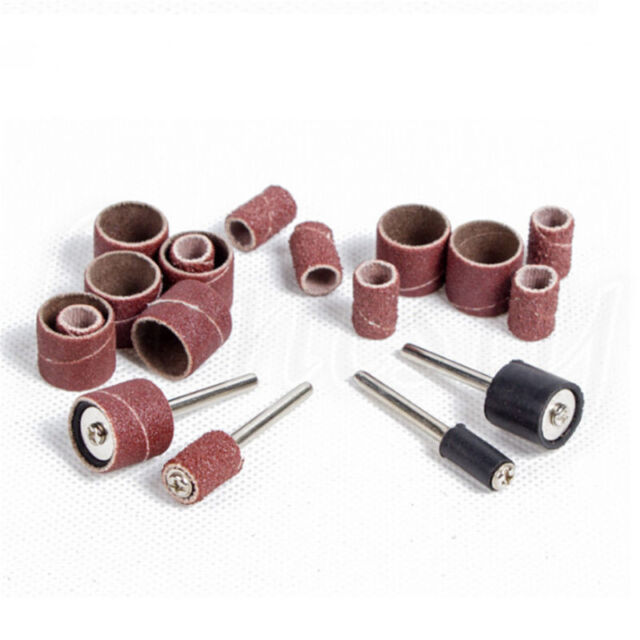 1//10//100pcs 80//240 Grit Sanding Drum Sleeves Sander Mandrels for Dremel Tool New