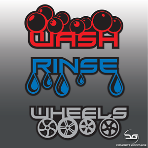 Bespoke-Car-Detailing-Valeting-Wash-Rinse-Wheels-Vinyl-Decal-Bucket-Stickers