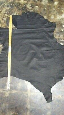 Top quality italian lamb suede leather skin hide black widow 5 Sq.Ft