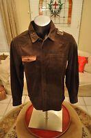Harley-davidson Men's Corduro Patch Raglan Long Sleeve Shirt,brown (96592-17vm)