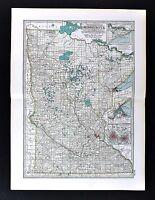 1898 Century Atlas Map - Minnesota - St. Paul Minneapolis Duluth Mankato Winona