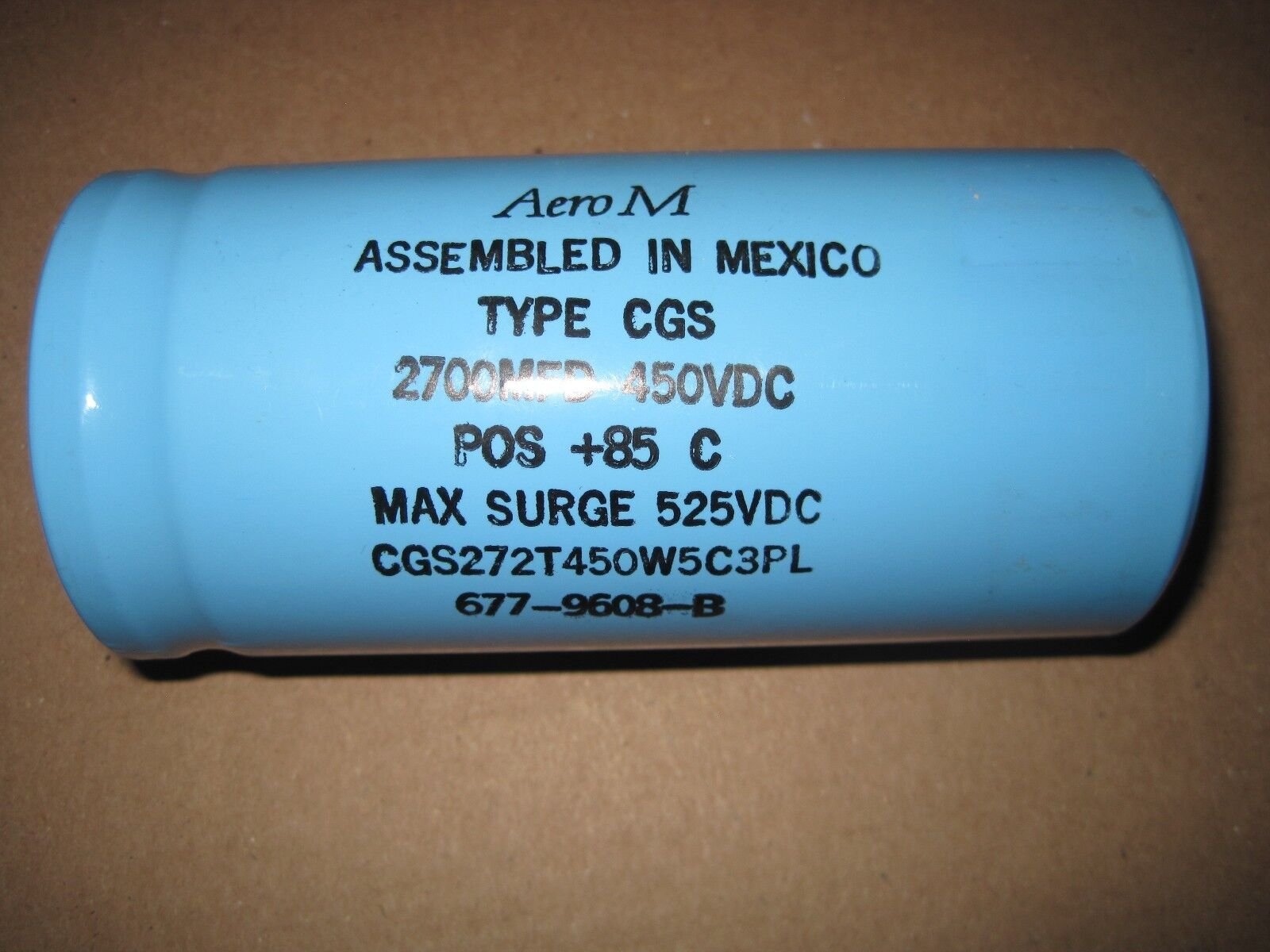 AERO-M 2700uF 450V Large Can Electrolytic Capacitor CGS272T450W5C3PL