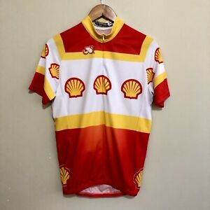 Shell-Oil-Promo-Brand-Cyclist-Cycling-Jersey-Shirt-Mens-Large
