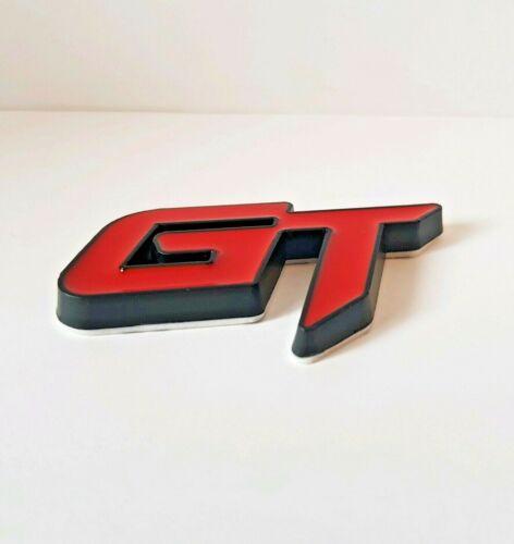 Red Black Metal 3D GT Badge Sticker for Dodge Avenger Challenger Durango Dart