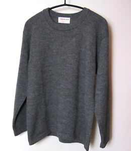 finest selection 59f08 7c944 Details zu ein Wollpullover 100 % Alpaka Wolle Grau Strickpulli Damen  Herren Pullover M NEU