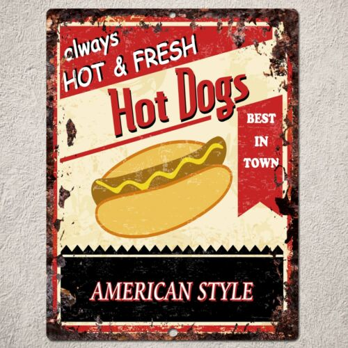 PP0116 Rust Handmade Hot Dogs Sign Home Store Cafe Interior Wall Decor Gift
