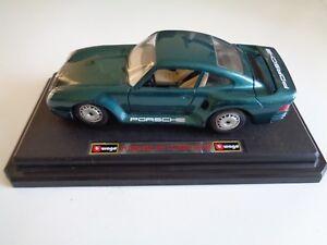 BURAGO-PORSCHE-959-Turbo-1986-VERDE-SCALA-1-24-da-collezione-decorativi-auto-modello