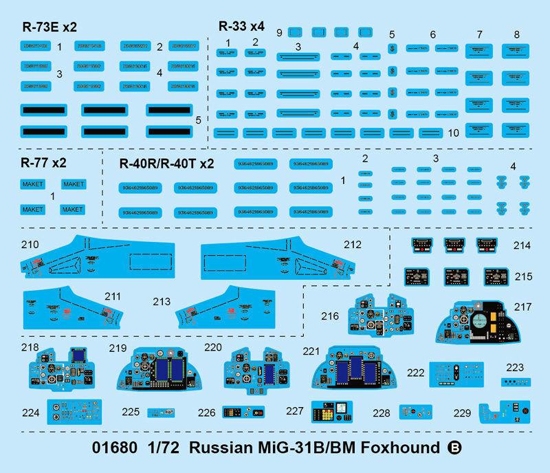 Vous êtes en bonne bonne bonne santé pour la nouvelle année. Russian Mig-31 B/bm Foxhound Fighter 1:72 Plastic Model Kit TRUMPETER | Stocker  85ecdf