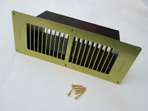Floor Air Vent Duct Lacquered Br