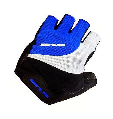 GUB FS2107 Pittards Half Finger Gel Cycling Glove Sheep Leather Gray X-Large