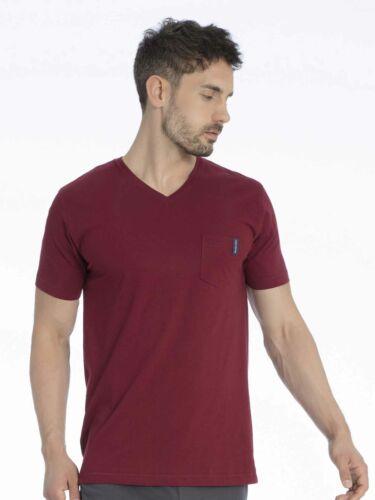 TOM TAILOR Homme T-Shirt avec V-Neck Mix It Up!