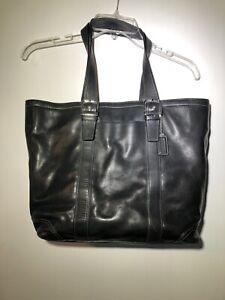 Coach-Handbag-Purse-Large-Tote-Black-Leather