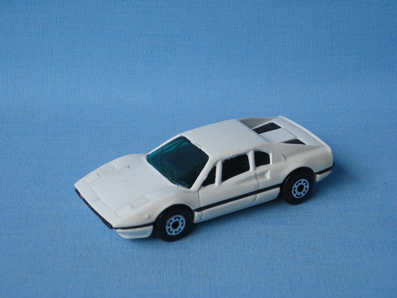 Caja de cerillas Ferrari 308 coche blancoo blancoo blancoo cristal verde coche deportivo italiano 925