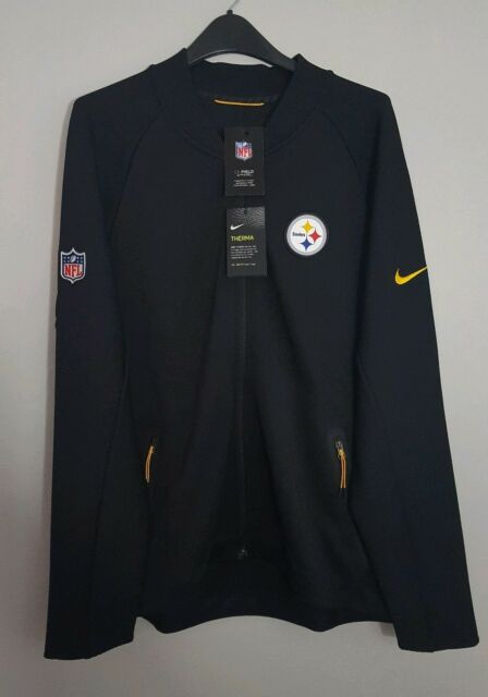 the best attitude c5deb 03a6f Nike NFL Pittsburgh Steelers Sideline Coaches Full Zip Jacket 852913-010 Sz  L