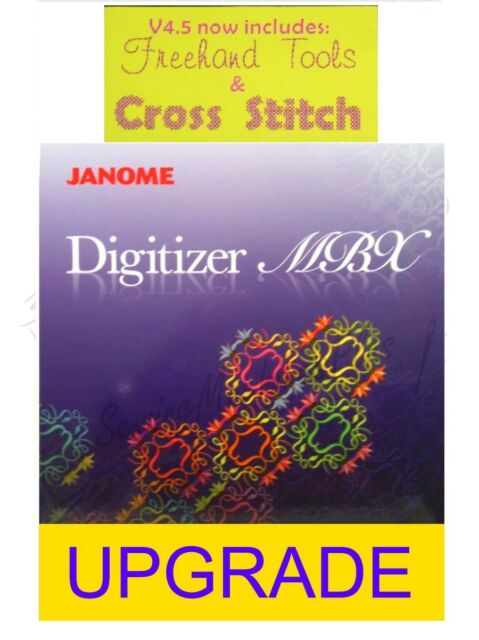 Janome Digitizer Mbx Version 40 To 45 Embroidery Software Upgrade