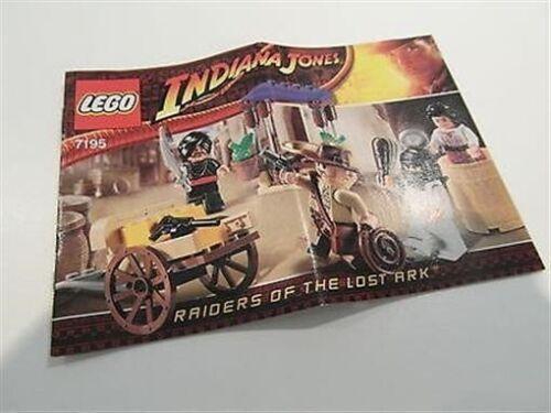 Lego Indiana Jones instruction manual 7195 embuscade au Caire