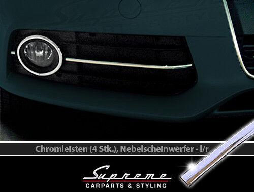AUDI A5 8T 8F 07-11 Chrom Zierleisten 3M für Kühlergrill Nebelscheinwerfer 2