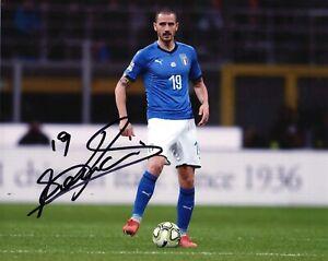 Foto-Autografo-Calcio-Leonardo-Bonucci-Asta-di-Beneficenza-Soccer-Sport-Signed