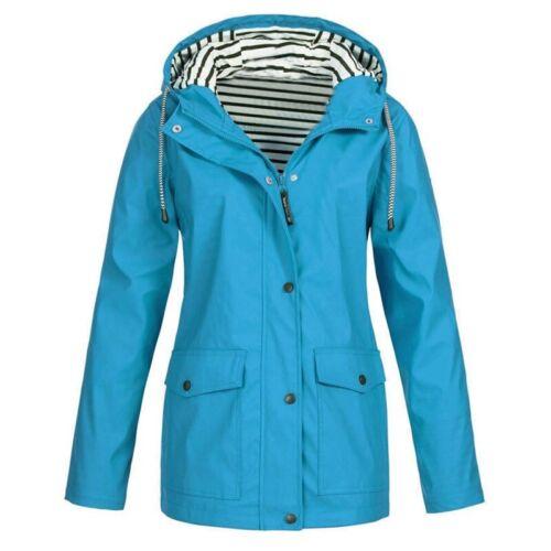 Plus Size Women/'s Windbreaker Outdoor Hoodie Waterproof Jacket Raincoat Coat