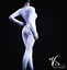 1//6 women white Slim Tights stretch suit Long Sleeve for phicen hot toys ❶USA❶