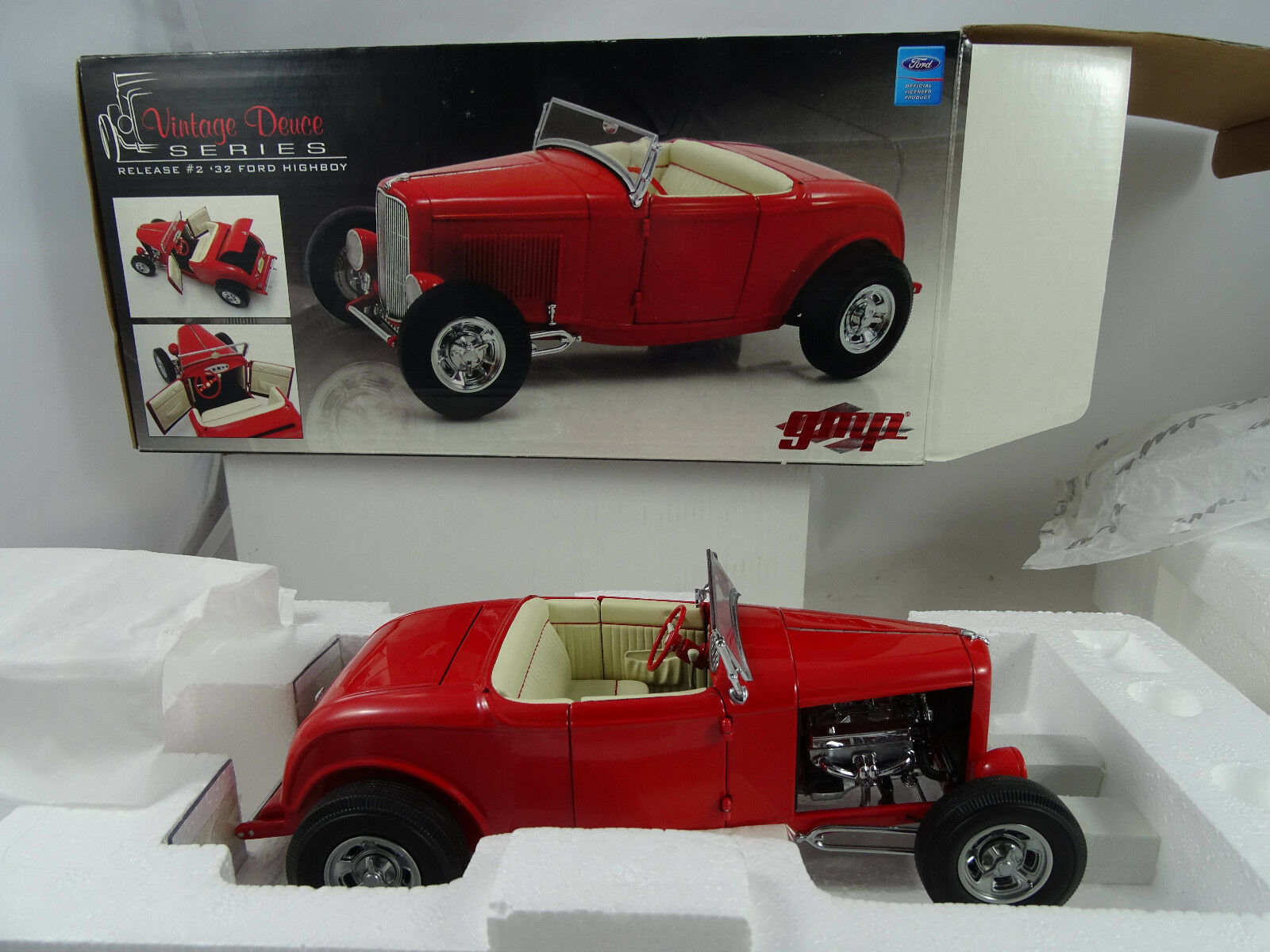 1 18 Gmp G1805003 Vintage Deuce Release Ford Highboy Red 1of 996 Rarity