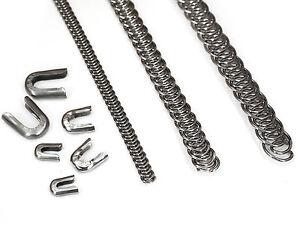 10 mm Eloja® Set 3 m Spiralfedern und 30 Endkappen Korsettstäbe Korsett Stäbe
