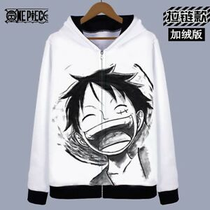 One Piece Luffy Anime Kapuzen Sweatshirt Hoodie pullover Jacket Jacke Pulli Coat