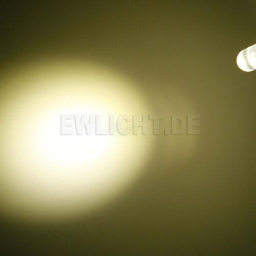 10 LEDs 5mm blanc chaud 15000mcd warmweiss LED pc Modding voiture auto Modélisme