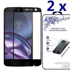 [2x] For Motorola Moto Z Play/Droid Full Curved Tempered Glass Screen Protector
