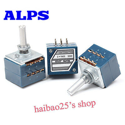 100% Original Japan ALPS 27 Type Blue Volume Potentiometer 2X50K 25*6mm Audio