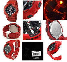 Casio G-Shock GA100B-4A X-Large Series Analog & Digital Red Watch