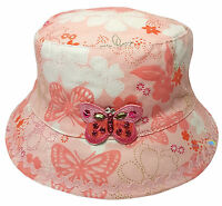 Childrens Bush Hat Boys Girls Various Designs Cotton Summer Sun Bucket Cap New