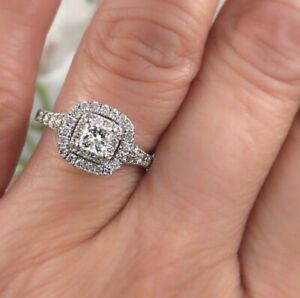 111ad954b295f Details about Neil Lane Engagement Ring 1-1/8 ct tw Diamonds 14K White Gold