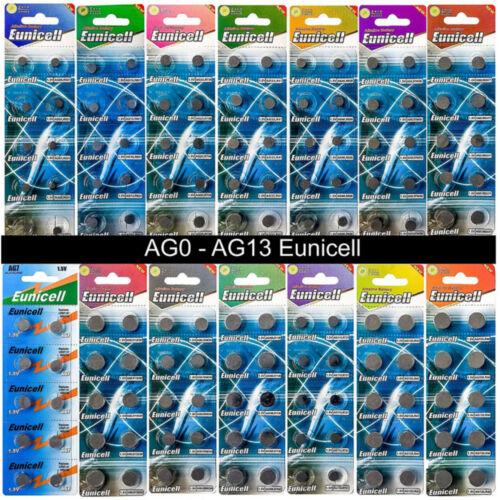 Eunicell AG cellules 0 1 2 3 4 5 6 7 8 9 10 12 13 Piles Plusieurs qté AG5 AG7