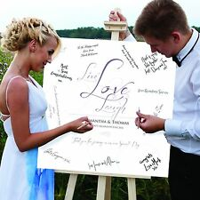 Wedding guest signing canvas. WEDDING GUEST BOOK WITH A DIFFERENCE